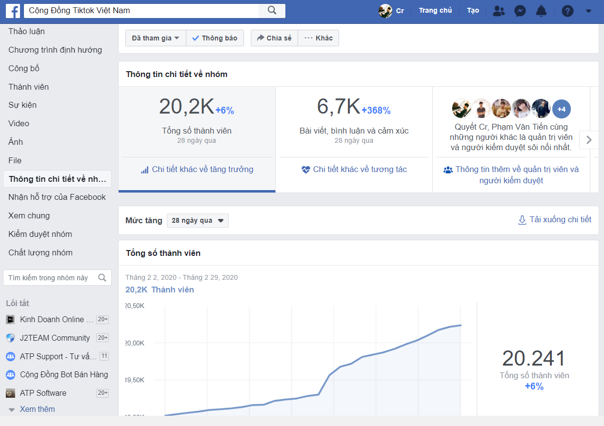 dịch vụ tăng thành viên vào nhóm facebook